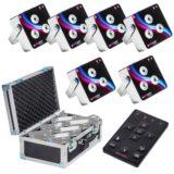 6er Set LED-Scheinwerfer mit eingebautem Akku und Funkfernbedienung